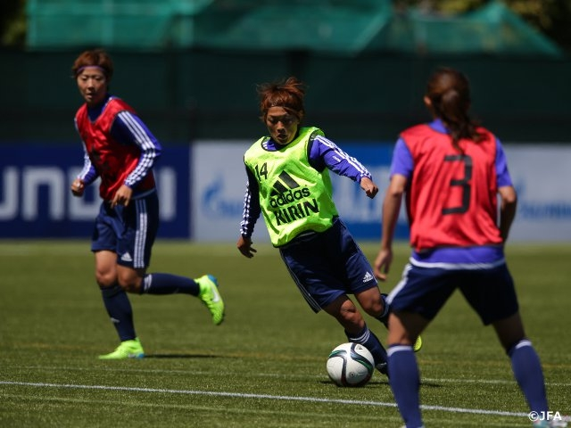Nadeshiko Japan's back-up players in match against Switzerland hold practice session focusing on attack