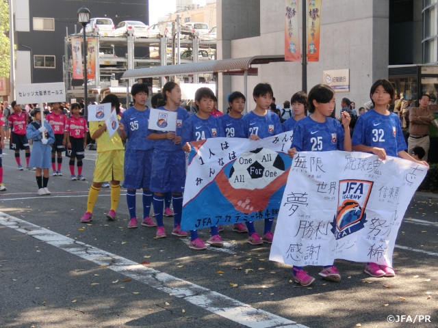 JFA Academy Sakai 4th-class students participate in parade of Sakai Festival