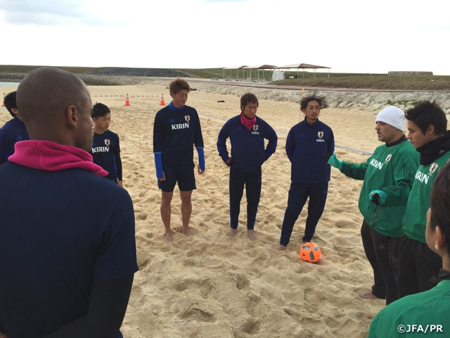 Japan Beach Soccer squad kick off their Okinawa camp
