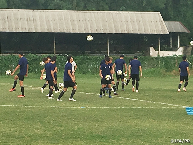 U-19 Japan National Team conducts final tune-up ahead of