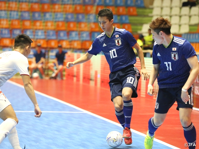 U-20 Japan Futsal National Team comes from behind to defeat Vietnam at the AFC U-20 Futsal Championship Iran 2019