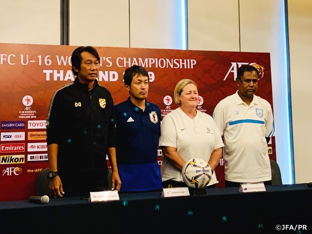 U-16 Japan Women's National Team holds final training session and official press-conference ahead of first match of the AFC U-16 Women's Championship Thailand 2019