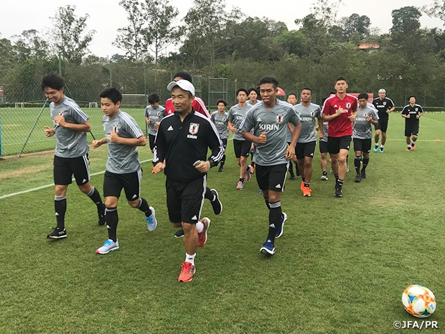 U-17 Japan National Team arrives to their campsite in Sao Paulo - FIFA U-17 World Cup Brazil 2019