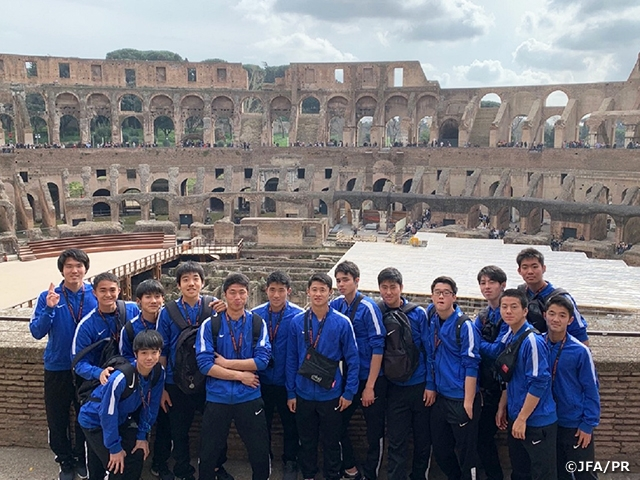 JFA Academy Fukushima Men's team conduct international exchange activities abroad