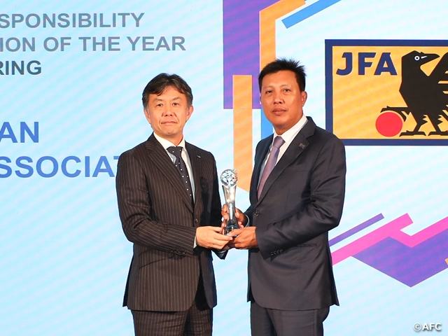 JFA rewarded with Inspiring Member Association Gold Award at the AFC Dream Asia Awards
