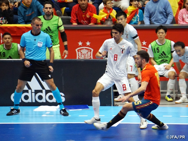 Japan Futsal National Team lose to Spain in an international friendly match held in Madrid