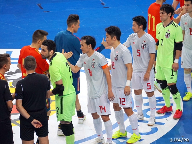 Japan Futsal National Team suffer crushing defeat against Spain in second international friendly match
