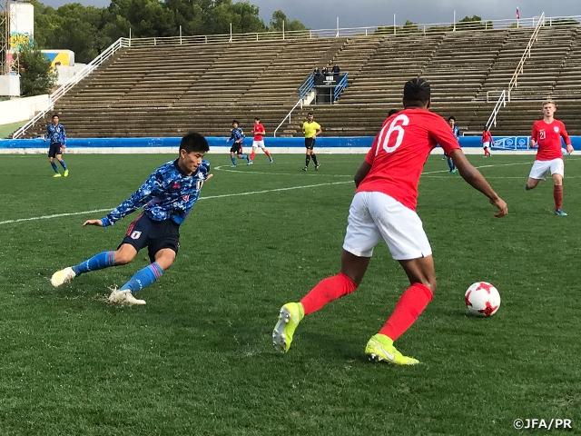U-15日本代表 イングランド代表に0-5完敗