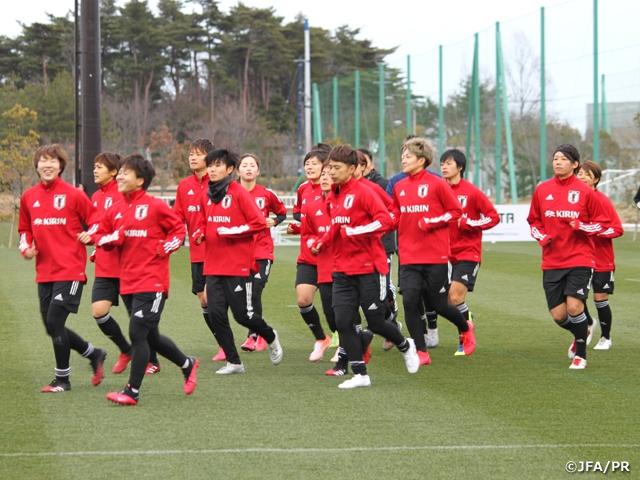 なでしこジャパン候補トレーニングキャンプ 「特別な年になる」 東京オリンピックに向けて福島で始動