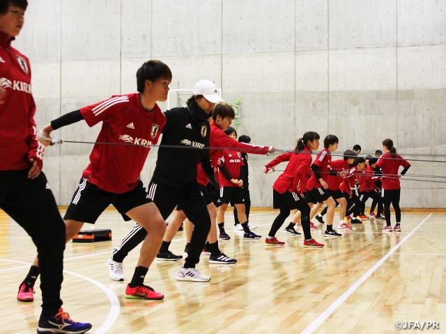 なでしこジャパン候補トレーニングキャンプ 連携の深化とフィジカルの強化でメダルを目指す