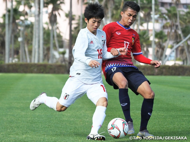 U-17 Japan National Team win 2nd group match against U-19 Laos National Team 2-1 - JENESYS2019 Youth Football Exchange Tournament