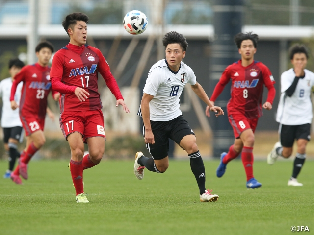 U-16日本代表候補 流通経済大とトレーニングマッチを実施