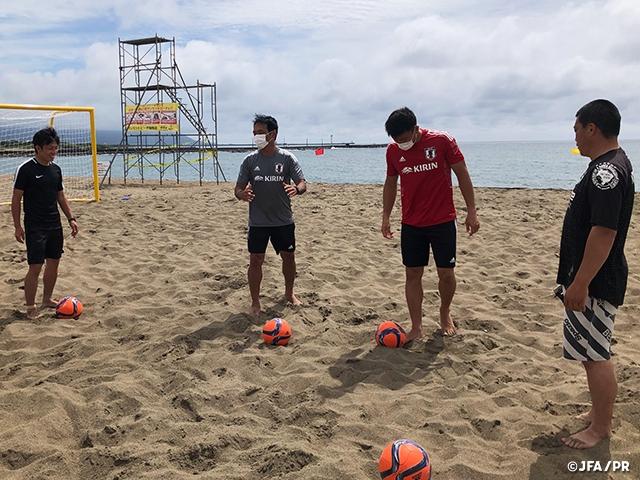 北信越で、ビーチサッカー巡回クリニックを実施