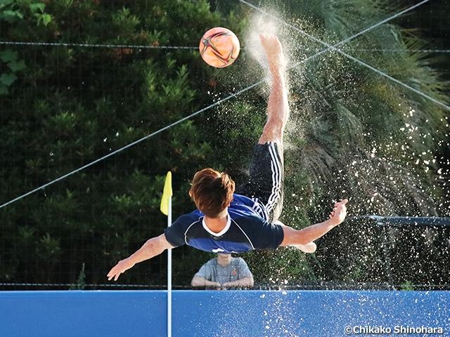 ビーチサッカー日本代表候補合宿、トレーニングマッチで合宿を締めくくる